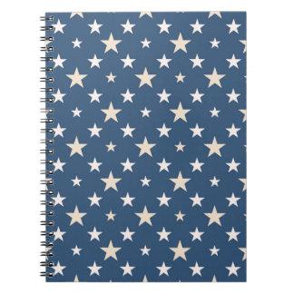 America themed stars pattern notebook