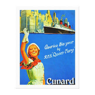 America this Year by RMS Queen Mary ~ XL Canvas Print