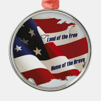 América tierra del hogar libre del valiente del pa ornamentos para reyes magos