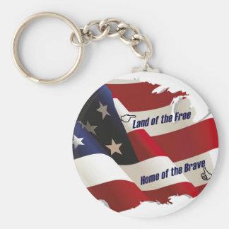 América tierra del hogar libre del valiente del pa llavero