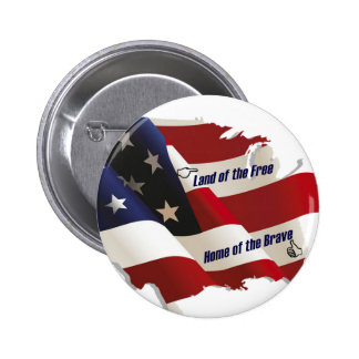América/tierra del hogar libre del valiente/del pa pin redondo 5 cm