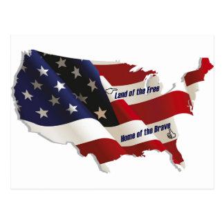 América tierra del hogar libre del valiente del pa tarjeta postal