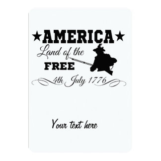 """América - tierra del libre invitación 5"""" x 7"""""""