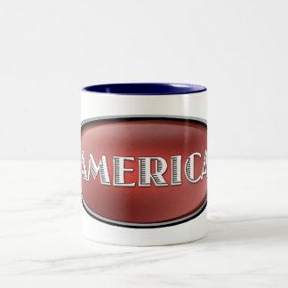 America Two-Tone Coffee Mug