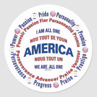 america united - new orleans creole classic round sticker