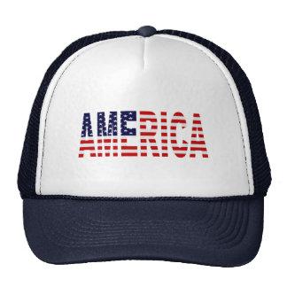 'AMERICA' US Flag Mesh Trucker Hat