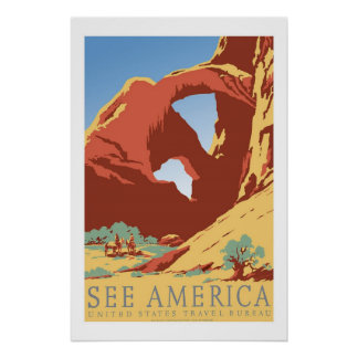 America US USA Vintage Travel Posters