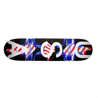 America USA Extreme Skateboard Patriotic Flag