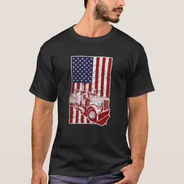 America USA Flag American Truck Divers T-Shirt