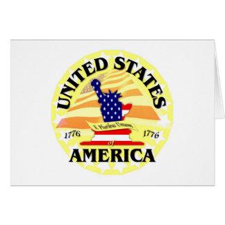 America USA Greeting Card