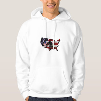 America: USA Silhouette and Kitty Hoodie