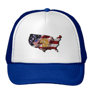 America: USA Silhouette and Kitty Trucker Hat