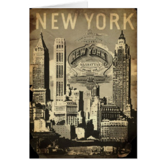 America USA travel vintage New York Card