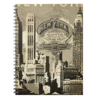 America USA travel vintage New York Notebook