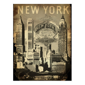 America USA travel vintage New York Postcard