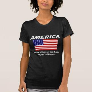 América - usted está a la derecha, o usted es camisetas
