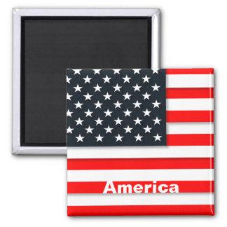 America Vintage Travel Tourism Magnet