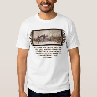 America was Founded on the Gospel of Jesus Christ T-shirts