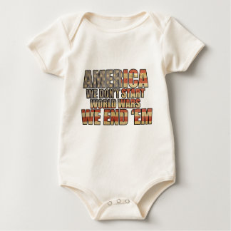 America - We End World Wars! Baby Bodysuit