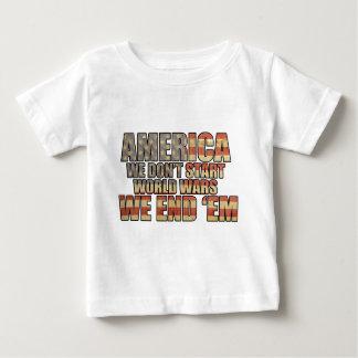 America - We End World Wars! Baby T-Shirt