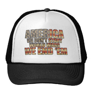 America - We End World Wars! Mesh Hats