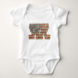 America - We End World Wars! Infant Creeper