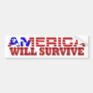 America Will Survive Car Bumper Sticker