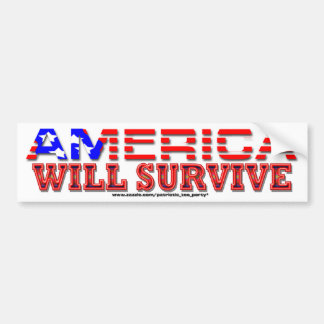 America Will Survive Bumper Sticker