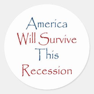 America Will Survive This Recession Sticker