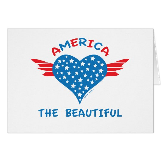 America Winged Heart Card