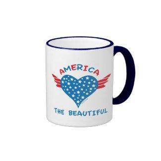 America Winged Heart Mug