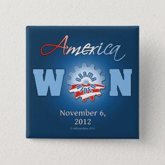 America Won On Nov. 6, 2012 Button