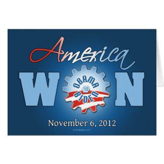 America Won On Nov. 6, 2012 Card