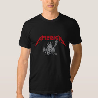 America Worn out look T Shirts