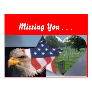 Americains are patriotic, Missing You . . . Postcard