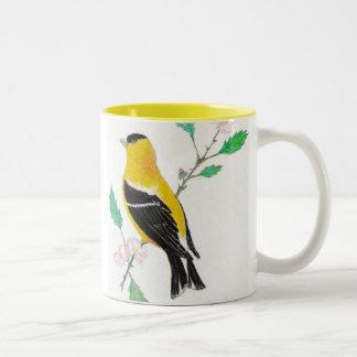 americam goldfinch, American Goldfinch Two-Tone Coffee Mug