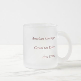 Americam utramque - North & South America Map Frosted Glass Coffee Mug