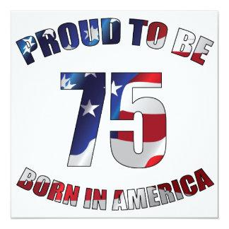 American 75th Birthday Invitation