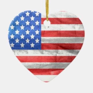 american-83-flag ceramic ornament