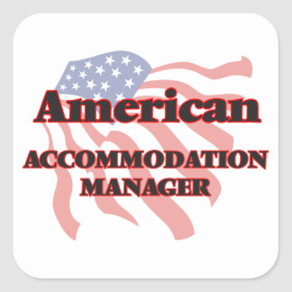 American Accommodation Manager Square Sticker