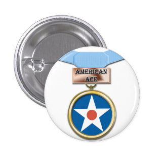 American Ace medal button