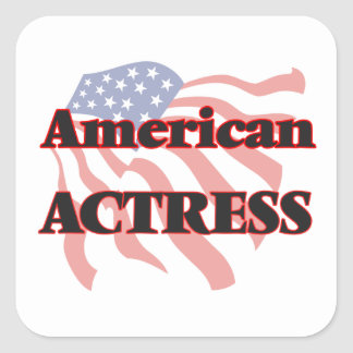 American Actress Square Sticker
