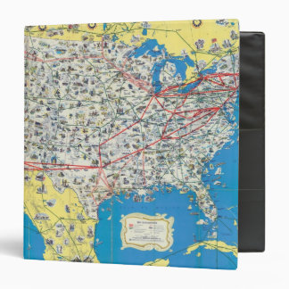 American Airlines system map Vinyl Binder