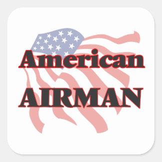 American Airman Square Sticker