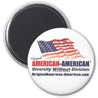 American-American 2 Inch Round Magnet