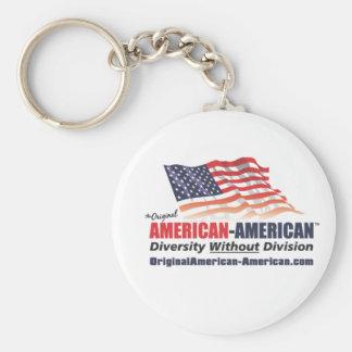 American-American Basic Round Button Keychain