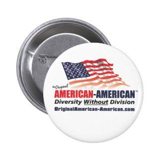 American-American Pinback Button