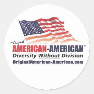 American-American Classic Round Sticker