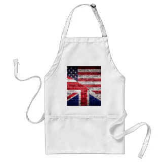American and British flag. Adult Apron