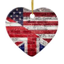 American and British flag. Ceramic Ornament